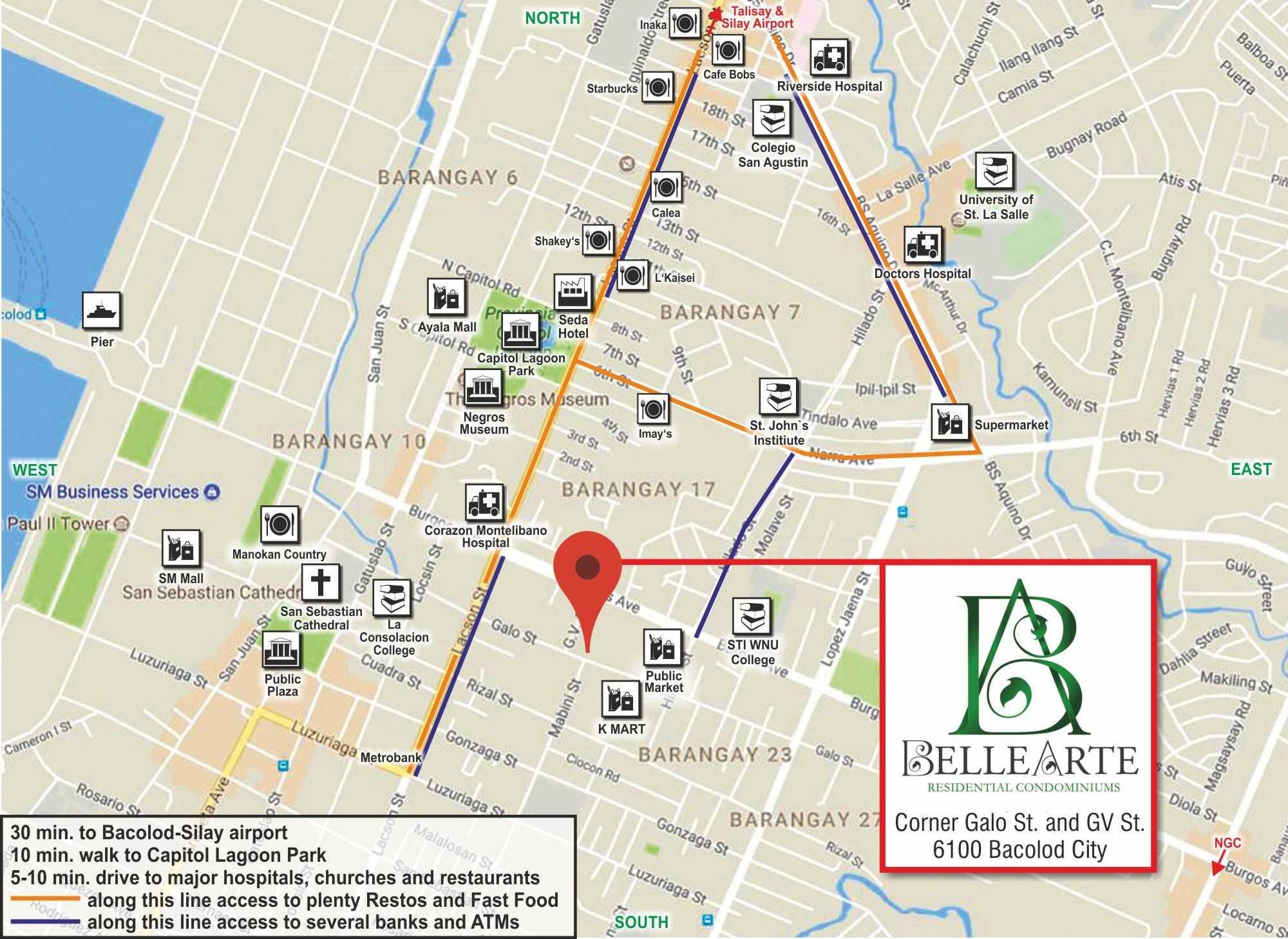 Belle Arte Map